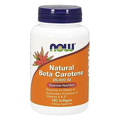 Now Foods, natürliches Beta-Carotin, 25.000 IE, 180 Kapseln [Körperpflege]