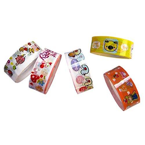 homiki Set mit 10Rollen Klebstoffe gemustert ideal Lebhafte Deko Band selbstklebend Malerei-Papier kawaii für Scrapbooking/Schul - (Band Für Malerei)