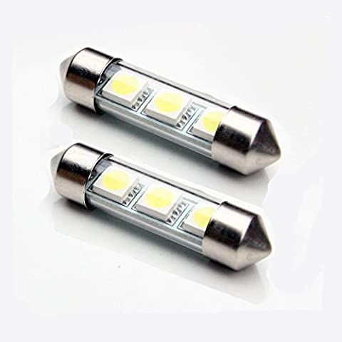 Ford Focus MK2 (05-07) 3xSMD Number Plate 2xLED bulbs