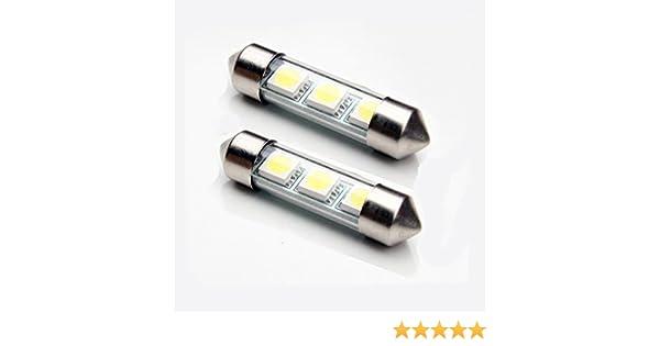 MK1 2x36mm Festoons LED Car Number Plate Bulbs SEAT Leon 99-06