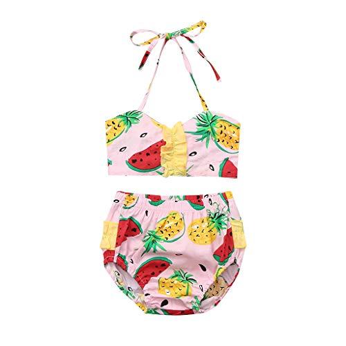 Jimmackey costume da bagno per bambini,costume da bagno con stampa anguria stampato bikini costume da bagno spiaggia set bikini in pizzo 2 pezzi costumi da bagno per bambini