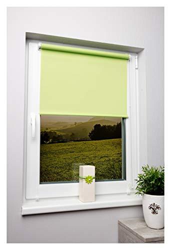 Tageslichtrollo Grün 80x150 cm Ohne Bohren Klemmfix Ohne Bohren Sichtschutzrollo Seitenzugrollo Klemmrollo