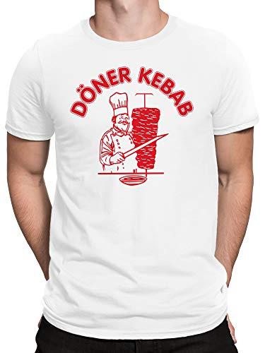 vanVerden Herren T-Shirt Original Döner Kebab Shirt bis 5XL, Größe:S, Farbe:Weiß