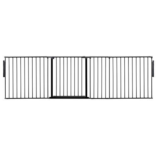 Safetots Raumteiler schwarz für Haustier bis 249cm