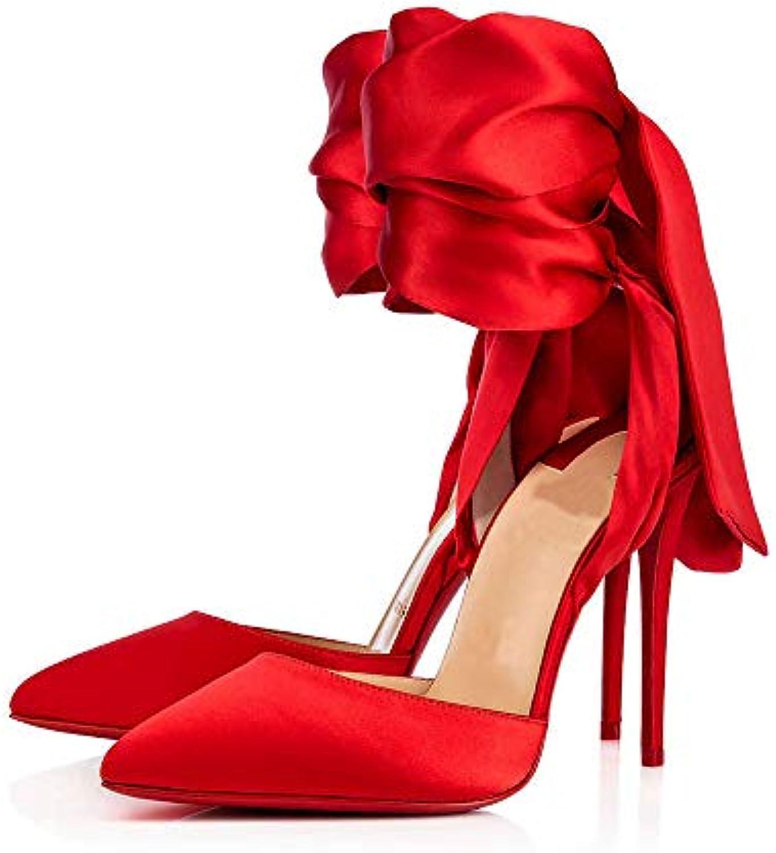 QXH Sandali da Donna Bocca Superficiale Scarpe a Punta Tacco Alto Lacci delle Scarpe di Grandi Dimensioni   Vinto altamente stimato e ampiamente fidato in patria e all'estero    Maschio/Ragazze Scarpa