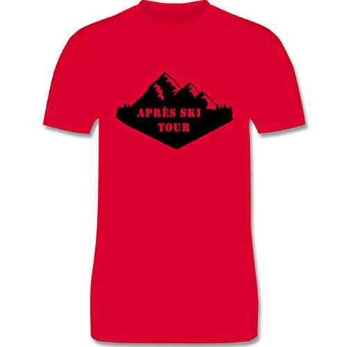 Après Ski - Apres Ski Tour - Herren Premium T-Shirt Rot