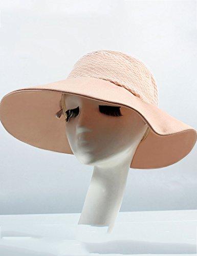 Chapeau de soleil Femme soleil chapeau bord de mer Voyage Anti-UV chapeau de soleil Chapeau de plage Grandes corniches Crème solaire Chapeau d'été Plage Cap ( Couleur : 1 ) 3