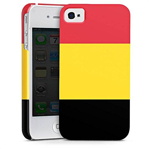 Apple iPhone X Silikon Hülle Case Schutzhülle Belgien Flagge Fußball Premium Case glänzend