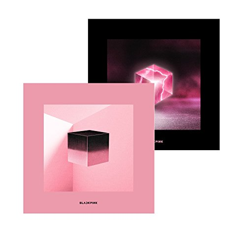 GENIE MUSIC BLACKPINK - SQUARE UP [Pink+Black ver. SET] (1st Mini Album) 2CD+Photobook+Renticular Lyrics+Postcard+Photocards+1Double-Sided Folded Poster+Free Gift
