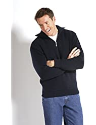 Troyer 100% Schurwolle, dunkelblau, von Modas alle Größen