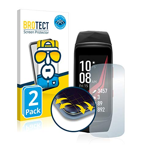 BROTECT Full Cover Schutzfolie für Samsung Gear Fit 2 Pro [2er Pack] - Full Screen Bildschirmschutz, 3D Curved, Kristall-Klar