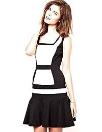 575a50150e Karen Millen Colour Block Flippy Black and White Cotton Dress