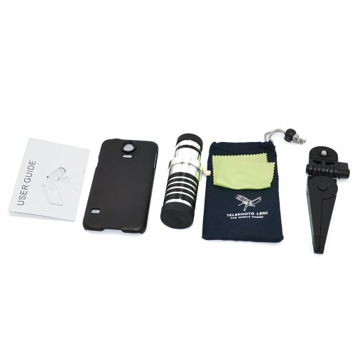 Apexel SPIG9 Teleobjektiv-Set mit Stativ/Rückschale für Smartphone (12-fach optischer Zoom)