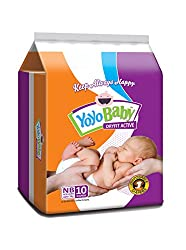 YoYo Dryfit Baby Diapers Size New Born Pack of 2 (New Born)