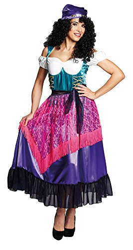 ,Karneval Klamotten' Kostüm Zigeunerin Dame Kostüm Karneval Marktfrau Damenkostüm Größe 42