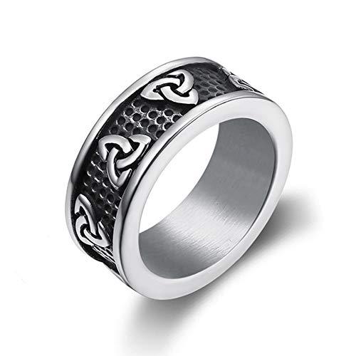NICEWL Islam Baum des Lebens Ring-Classic Gotischen Stil Herren Edelstahl Ring, Türkische Religiöse Vintage Mode Life Tree Band Ring, Heidnischen Schmuck,Steelcolor,10