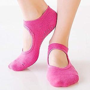 DYJILE 2 Paar Frauen Yoga Socks Studio-socken, Balance Und Stabilität Zu Erhöhen Funktion des Fuß Warm, Für Pilates Bikram Ballett Fitness