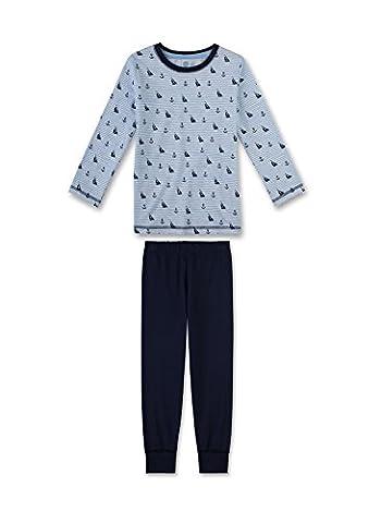 Sanetta Jungen Zweiteiliger Schlafanzug 231941, Gr. 140, Blau (neptun 50226)