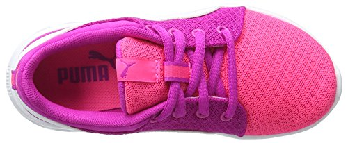 Puma Unisex-Kinder Carson Runner 400 Mesh Ps Low-Top Pink (knockout pink-puma white 04)
