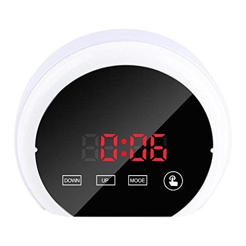 Pasamer Mirror Surface Reloj Despertador Digital Colorido