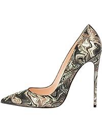 c8797e420a127a MERUMOTE Frauen Spitzschuh Stiletto High Heel Lackleder Kleid Partei üblichen  Pumpen