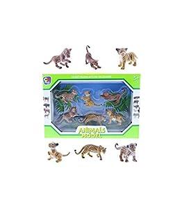 ColorBaby- Set 6 Animales Felinos Selva Caja 34x23 cm, (42934)