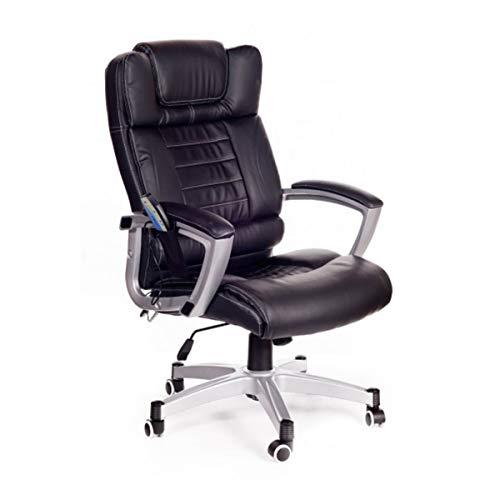 San marco poltrona da ufficio massaggiante nera, sedia da studio con massaggio 4 punti