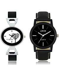 Velentime Analogue Watches combo for Men's and Women's