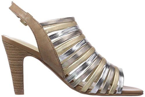 Gerry Weber Shoes Sascha 05, Sandali donna Argento (Silber (metallic-kombi 718))