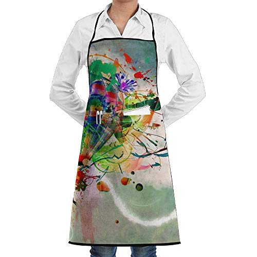 Drempad Premium Unisex Schürzen, Colorful Hot Air Balloons Wallpaper Fashion Waterproof Durable Apron with Pockets for Women Men Chef