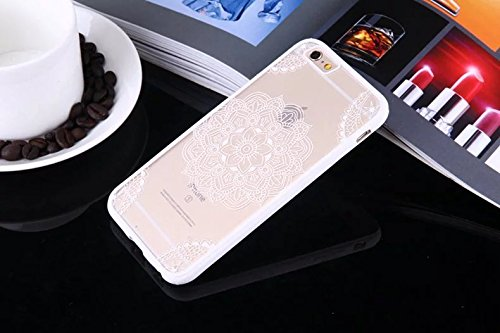 Wkae Case Cover Mandala Fleurs Imprimé Conception de protection PC Hard Cover Case + TPU Bumper pour iPhone SE 5S 6 6S plus by DIEBELLEU ( Color : Pink , Size : IPhone 6S Plus ) White