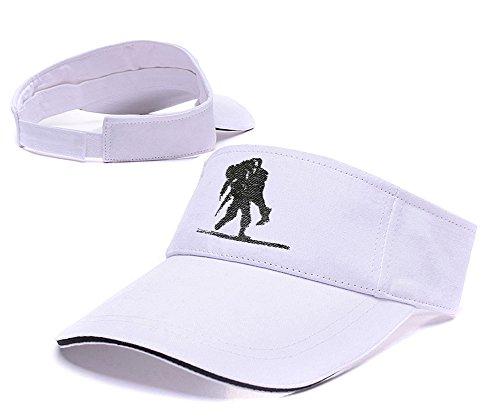 Sianda Credo in eroi feriti guerriero progetto visiera ricamo Cappello da golf, Uomo, White Visor, Taglia unica
