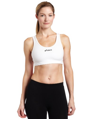 Asics Damen Team Core Bra Top BH weiß Medium
