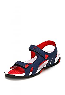 Puma Men's Jamey DP Insignia Blue and High Risk Red Athletic & Outdoor Sandals - 11 UK /India(46EU)