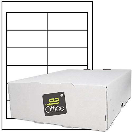 TE-Office 6000 Pezzo Etichette adesive Etichette adesive Etichette per spedizione su foglio A4 Prua bianco opaco 97 x 42,4 mm Laser Inkjet