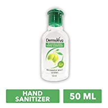 DERMOVIVA Anti-Bacterial Hand Sanitizer with Olive Extracts, 50ml
