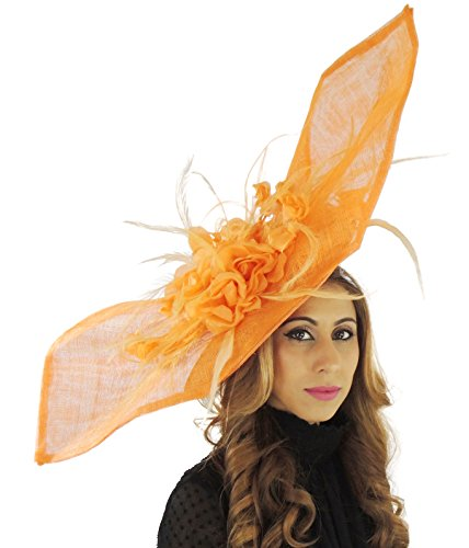 Hats By Cressida - Bandeau -  Femme Orange