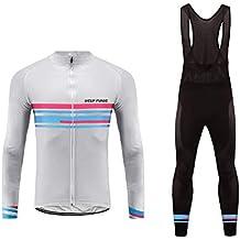 7513d9257 Uglyfrog Bike Wear Maillot de Ciclismo/Hombre Mangas Largas Bodies Ropa  para Bicicleta 3D Cojín