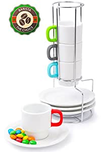 Coffee Cups Doubleshot Espresso Stackable Set - Italy ...