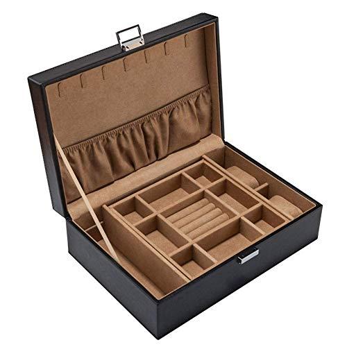 HYCy Doppelschicht Leder Uhrenbox, PU-Bezug Uhrenkasten Uhrenkoffer, Schmuck Armbanduhr Aufbewahrungsbox (Farbe : C) -