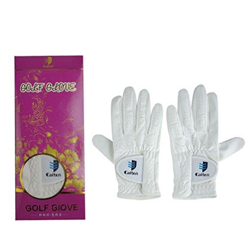 HUPLUE Unisex Damen Herren Golf Handschuhe Atmungsaktiv Anti-Rutsch Sports Handschuhe Beide Hände Rechts Links Hand, Woman, Both Hands