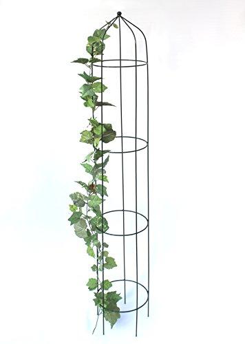 Rosensäule Art.386 Rankhilfe 160 cm Kletterhilfe Bodenstecker Rankpyramide Grün