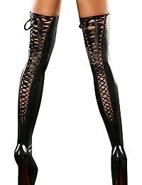 Amazon.fr   Cuir - Chaussettes et collants   Femme   Vêtements 5270f40253c