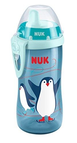 NUK 10255336 Kiddy Cup, Trinktülle aus robustem Kunststoff, 300 ml, auslaufsicher, ab 12 Monaten, BPA frei, blau