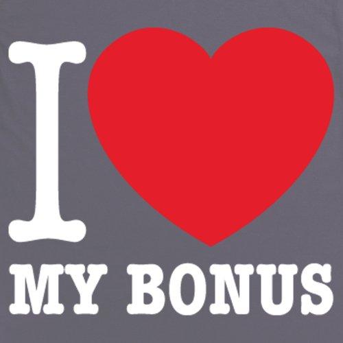Square Mile I Heart My Bonus T-Shirt, Herren Anthrazit