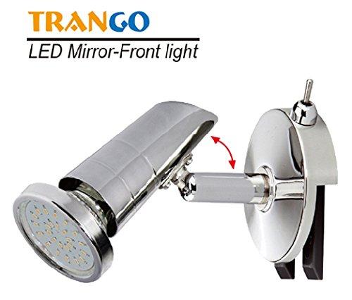 Trango LED Spiegelleuchte Bad Lampe Badleuchte mit ON/OFF Schalter inkl. 1x GU10 LED Leuchtmittel TG2248