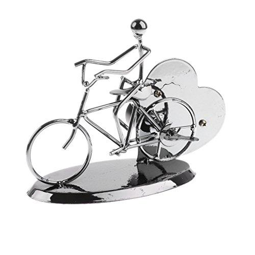 MagiDeal Windup Uhrwerk Spieluhr Spieldose - Künstler auf der Fahrrad Modell - Perfekt für Wohnzimmer, Haus, Weihnachten Party Ornamente Modell Weihnachtsbaum