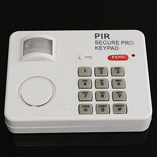 Wireless Motion Sensor Alarm Tür PIR Sicherheit Keypad Alarmanlage System für Home Garage Sicherheit, weiß