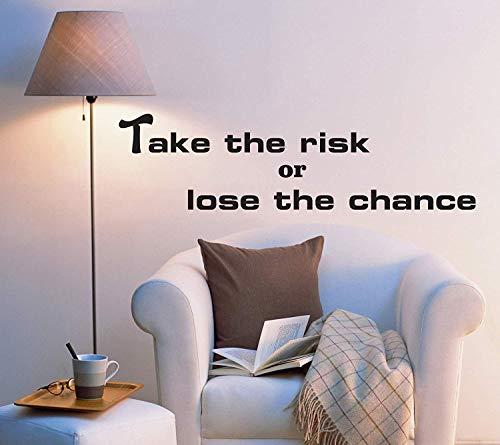 SUPERSTICKI Take The Risk or lose The Chance Zitat ca 60cm Wandtattoo Aufkleber Profi Qualität für glatten Flächen Sticker