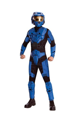 Blue Spartan Deluxe Anzug (Kostüme Blue Spartan)